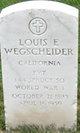 Pvt Louis E Wegscheider