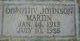 Dorothy Johnson <I>Johnson</I> Martin