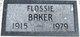 Flossie Ethel <I>Stewart</I> Baker