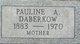 Pauline A <I>Heller</I> Daberkow