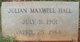 Julian Maxwell Hall