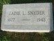 "Zada Leota ""Zadie"" <I>Oldham</I> Hunter Smith Snyder"