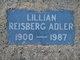 Profile photo:  Lillian <I>Reisberg</I> Adler