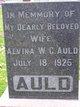 Alvina W C Auld