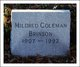Profile photo:  Mildred Virginia <I>Coleman</I> Brinson