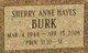 Sherry Anne <I>Hayes</I> Burk