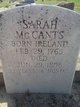 Sarah <I>Black</I> McCants