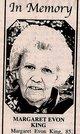 Margaret Evon <I>Kersey</I> King