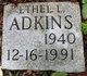 Profile photo:  Ethel L. <I>Parks</I> Adkins