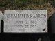 Abraham B Karron