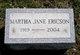 Martha Jane <I>Swineford</I> Ericson