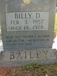 Profile photo:  Billy D. Bailey
