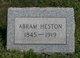 Profile photo:  Abram Heston