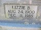 "Elizabeth Bell ""Lizzie"" <I>Henderson</I> Wilson"
