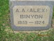 "Profile photo:  A. A. ""Alex"" Binyon"