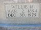 Willie May <I>Henderson</I> Williams