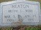 Hettie L. <I>Heaton</I> Webb