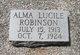 Profile photo:  Alma Lucile Robinson