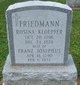 Rosina Helena <I>Klopfer</I> Friedmann
