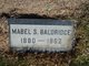 Mabel <I>Shaver</I> Baldridge