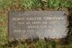 Sgt Lewis Calvin Christian