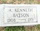 Profile photo:  A. Kenneth Batson