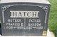 """Frances Elizabeth """"Fannie"""" <I>Atkinson</I> Hatch"""