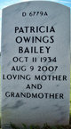 Patricia Owings Bailey