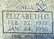 "Profile photo:  Elizabeth Gunell ""Nell"" <I>Vaughn</I> Hall"