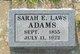 Profile photo:  Sarah E <I>Laws</I> Adams