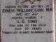 Ernest William Cook, M.M.