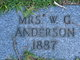 Mrs W. G. Anderson