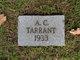 Profile photo:  A. C. Tarrant