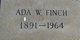 Ada <I>Wall</I> Finch