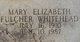 Mary Elizabeth <I>Fulcher</I> Whitehead