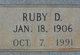 Ruby D. Wall