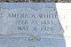 """America """"Merky"""" <I>Brummett</I> Whitley"""