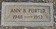 Profile photo:  Ann B. Porter