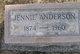 Jennie <I>Vass</I> Anderson