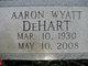 Profile photo:  Aaron Wyatt DeHart