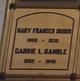 Carrie L. <I>Dodds</I> Gamble