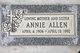Profile photo:  Annie Allen