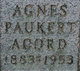 Profile photo:  Agnes <I>Paukert</I> Acord