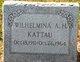 """Wilhelmina A.H. """"Min"""" Kattau"""