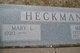 Mary Lee <I>Kindrick</I> Heckman