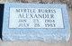 Myrtle Burris Alexander