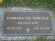 Barbara Lee <I>Tasker</I> Tadlock