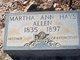 Profile photo:  Martha Ann <I>Hays</I> Allen