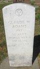 Profile photo: Pvt Claude W. Adams