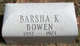 Green Barsha <I>Ketchum</I> Bowen
